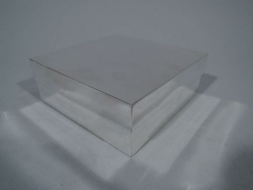 Tiffany Sterling Silver Covered Gift Box