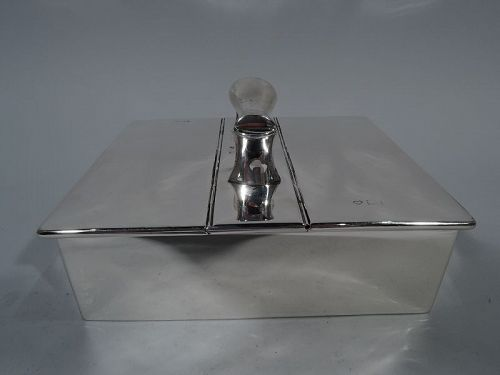 Antique English Edwardian Sterling Silver Desk Box 1903
