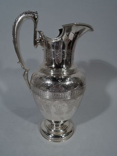 Early Tiffany Classical Sterling Silver Ewer