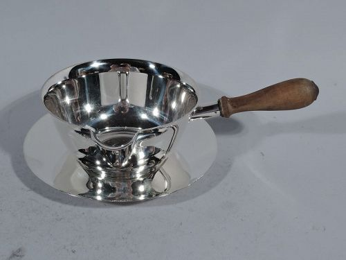 Tiffany Midcentury Modern Sterling Silver Pipkin on Stand