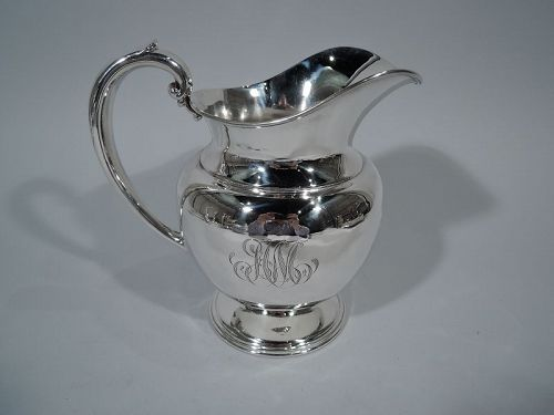 Antique American Edwardian Sterling Silver Water Pitcher