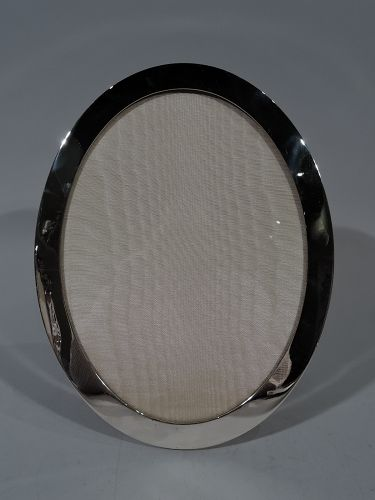 Tiffany Modern Sterling Silver Oval Picture Frame