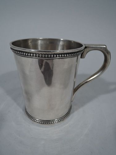 Antique Coin Silver Baby Cup by Harding of Boston
