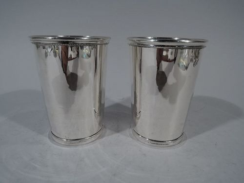 Rare Tiffany Barware � Pair of Sterling Silver Mint Juleps