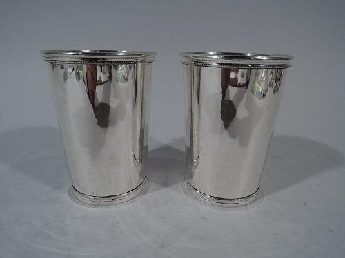 Rare Tiffany Barware � Pair of Sterling Silver Mint Juleps