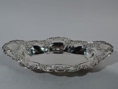 Pretty Antique Gorham Sterling Silver Bread Tray