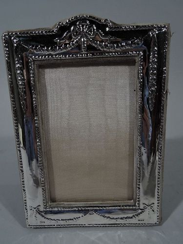 Old Fashioned English Sterling Silver Boudoir Picture Frame