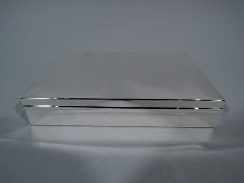 Tiffany Classic Large & Heavy Sterling Silver Desk Box C 1945
