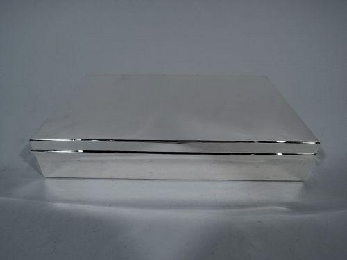 Tiffany Classic Large & Heavy Sterling Silver Desk Box C 1945