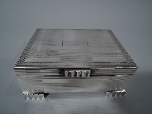 Snazzy Modern English Sterling Silver Box
