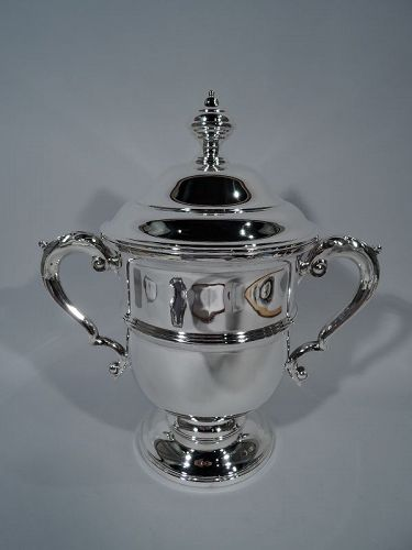 Traditional Large Sterling Silver Covered Trophy Cup by Tiffany & Co.