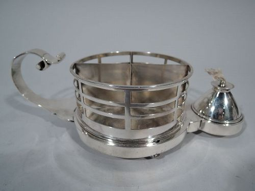 Antique English Sterling Silver Cigarette Cup and Lighter