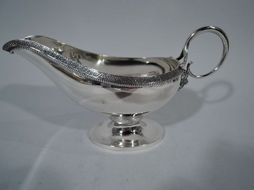 Antique Gorham Sterling Silver Classical Gravy Boat