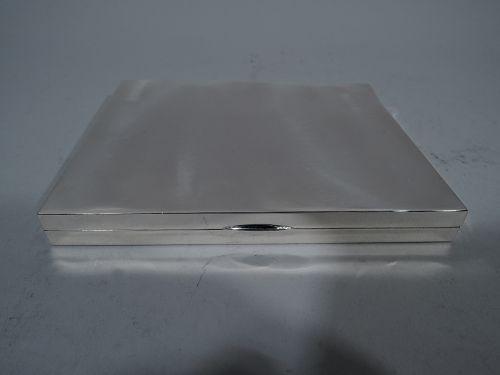 Tiffany Smart & Modern Sterling Silver Cigarette Box
