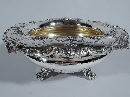 Antique Gorham Edwardian Sterling Silver Centerpiece Bowl