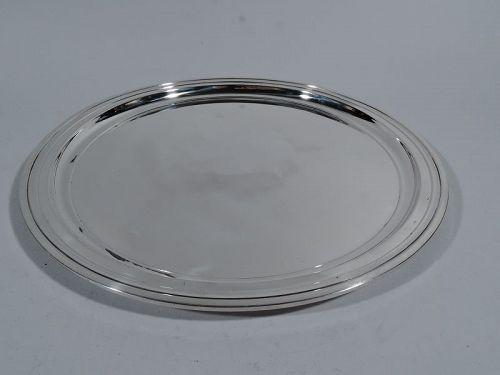 Tiffany Modern Sterling Silver Round Serving Tray