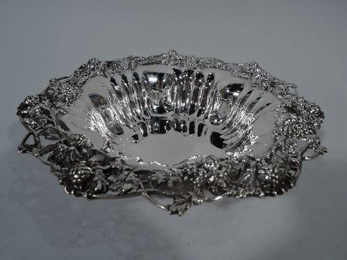 Graff, Washbourne & Dunn Sterling Silver Chrysanthemum Bowl