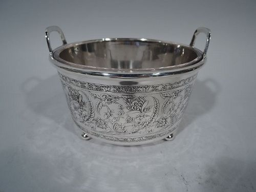 Antique Tiffany Art Nouveau Sterling Silver Ice Bucket