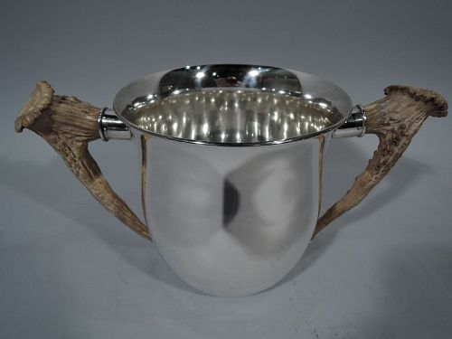 Antique Gorham Sterling Silver Trophy Cup with Horn Handles