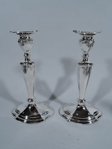 Pair of Reed & Barton Elegant Sterling Silver Candlesticks
