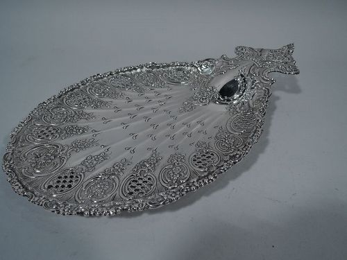 Antique Art Nouveau Tiffany Sterling Silver Petit-Four Plate