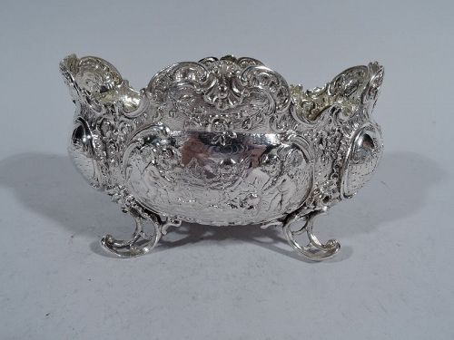 Antique German Rococo Silver Sweet Meat Bowl
