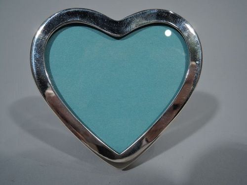 Tiffany Sterling Silver Sweet and Diminutive Heart Picture Frame