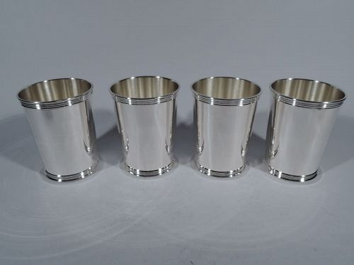 Set of 4 Sterling Silver Mint Julep Cups by Trees of Kentucky