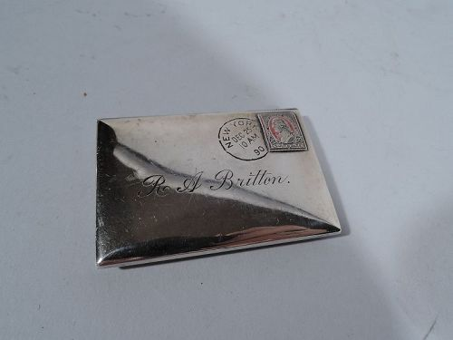 Gorham Novelty Miniature Envelope with Postage Stamp Book