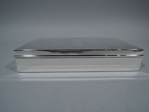 Tiffany Classic Large Sterling Silver Desk Box C 1945