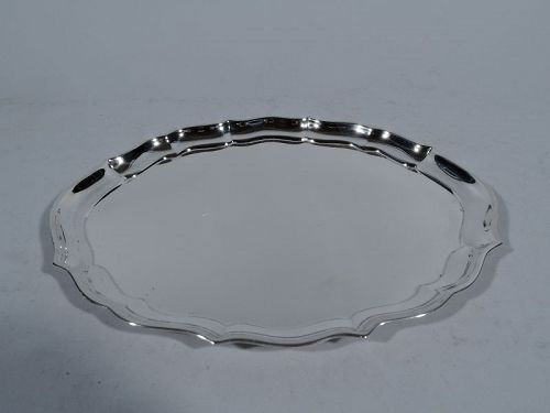 Gorham Sterling Silver Oval Tray in Georgian Chippendale Pattern