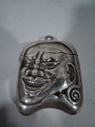 Antique Gorham Sterling Silver Match Safe with Japanese Oni