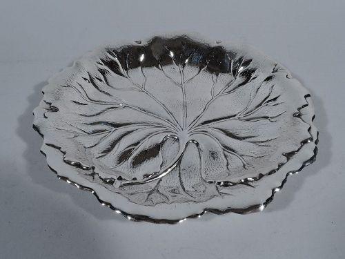 Beautiful Sterling Silver Leaf Bowl by International