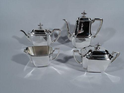 Art Deco Classic - Tiffany Hampton Sterling Silver Coffee & Tea Set
