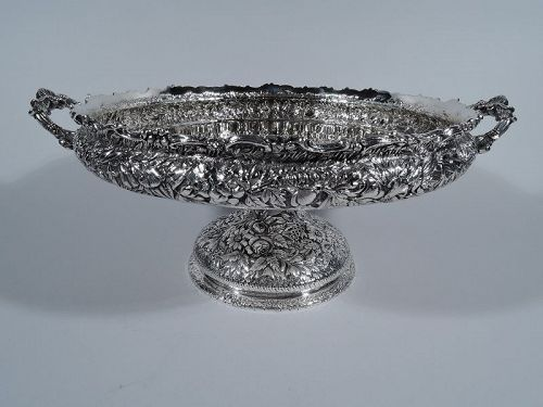 Antique Tiffany Sterling Silver Footed Centerpiece Bowl
