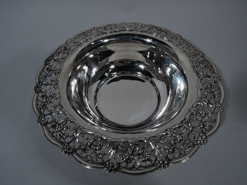 Antique Tiffany Edwardian Pierced Sterling Silver Bowl