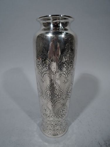 Antique Tiffany Art Nouveau Sterling Silver Vase