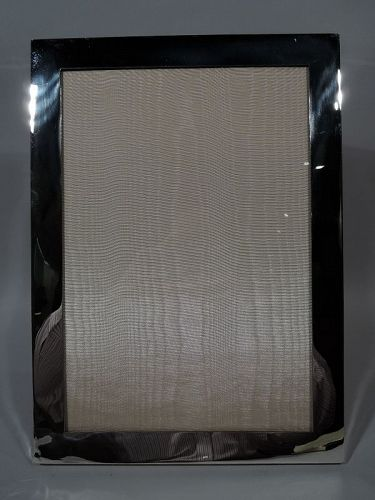 Very Large American Modern Sterling Silver Picture Frame