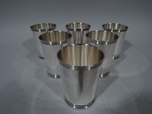 Set of 6 American Sterling Silver Mint Julep Cups
