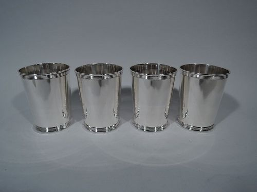 Set of 4 American Sterling Silver Mint Julep Cups