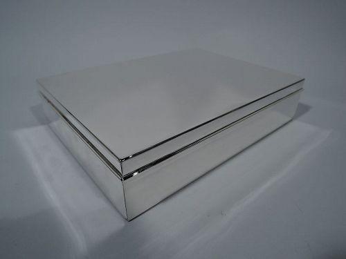 Tiffany Large and Heavy Sterling Silver Keepsake Box