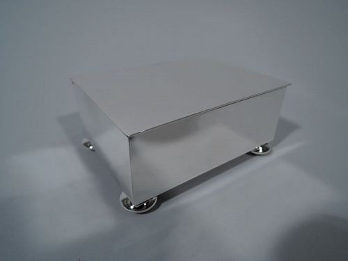 Tiffany Midcentury Modern Sterling Silver Desk Box
