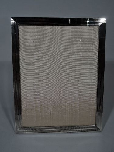 Large American Modern Hand Made Sterling Silver Picture Frame