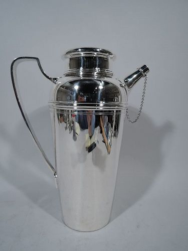 Antique Tiffany Sterling Silver Party-Size Cocktail Shaker