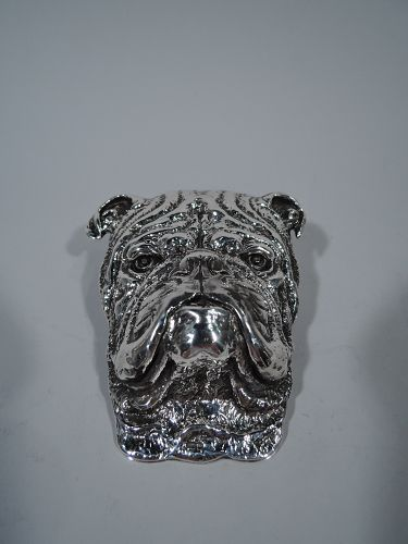 Antique American Sterling Silver Bulldog Paperclip by Gorham