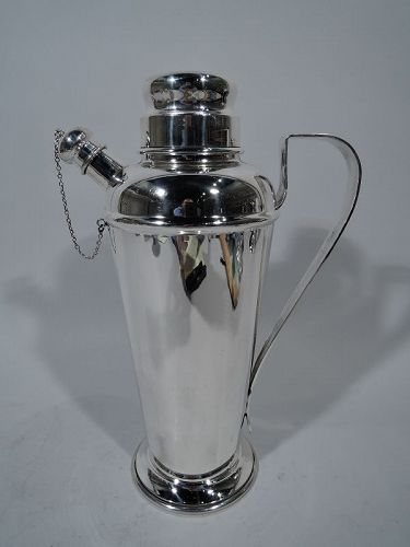 American Modern Sterling Silver Cocktail Shaker