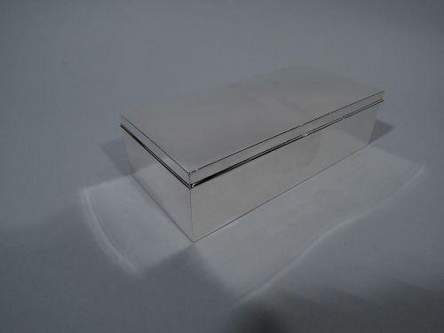 Tiffany American Modern Sterling Silver Desk Box