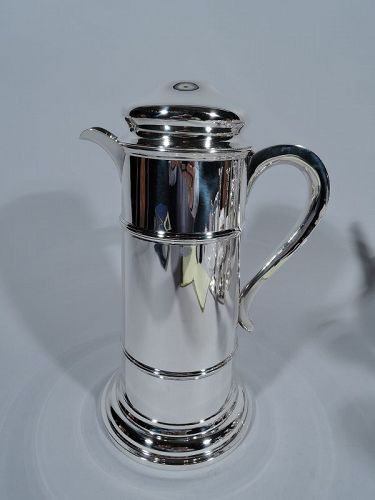 Tiffany Sterling Silver Silo Shaker for Industrial Strength Cocktails