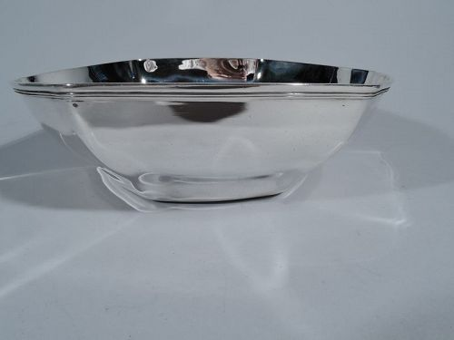Tiffany Art Deco Hexagonal Sterling Silver Bowl