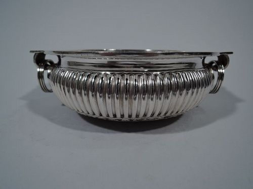 Traditional Indian Sterling Silver Bowl with Jangly Rings